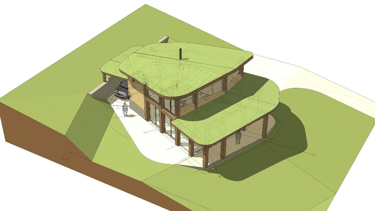 Natural building eco lodge